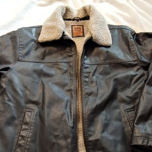 Lee Dungaree Men's XL Sherpa Faux Leather Jacket